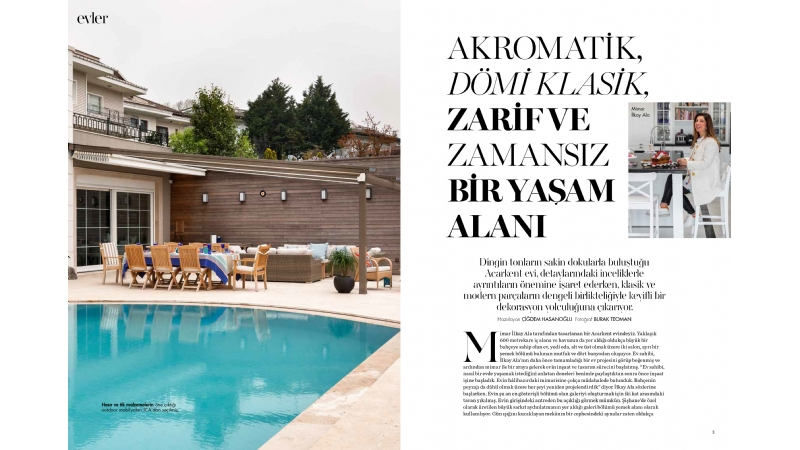 Acarkent Villa Projesi / Marie Claire mayıs 2018